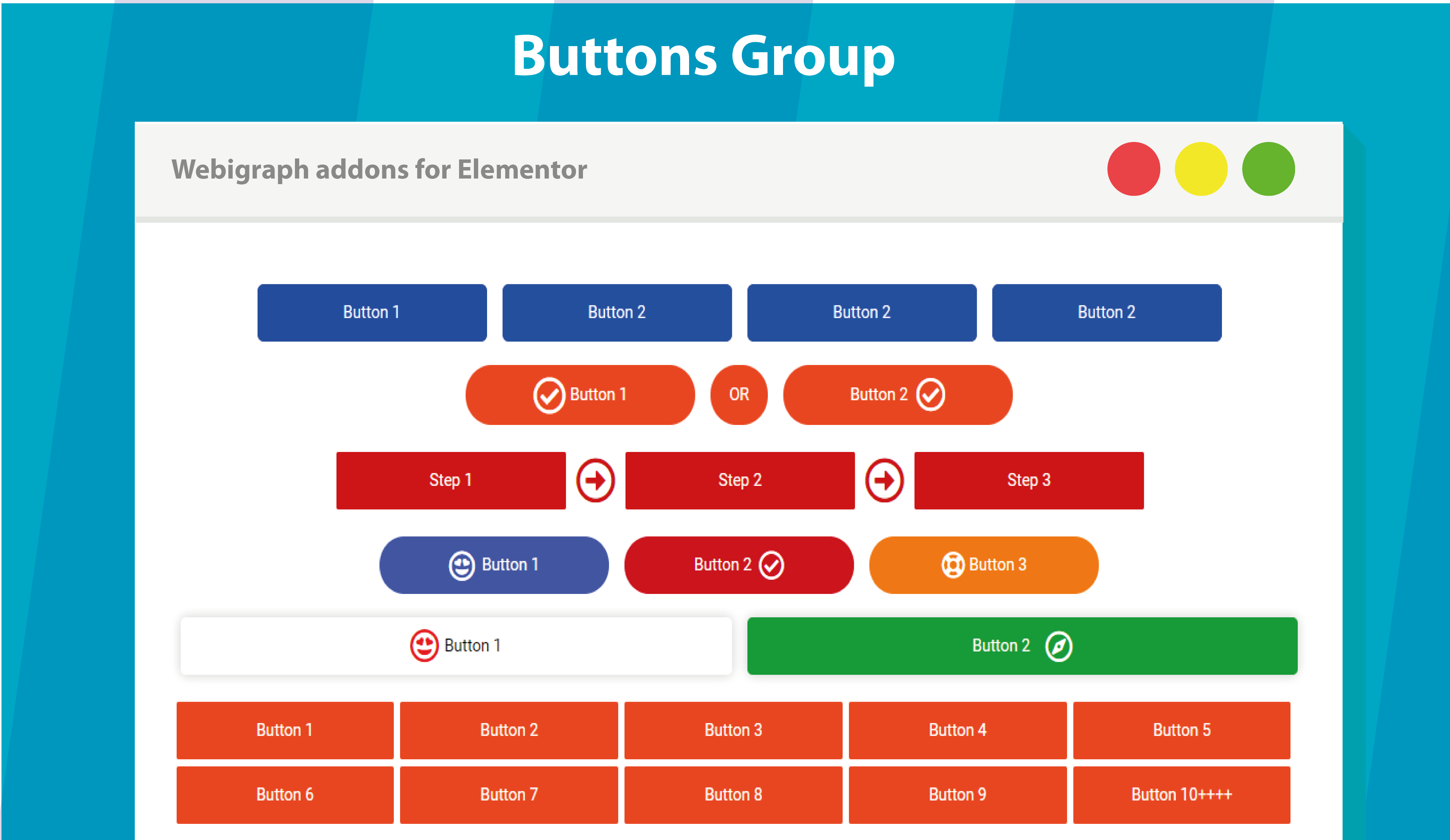 Show Webigraph widgets and widgets demo