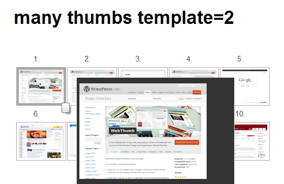 Some web site images fetched by WPF-WebThumb