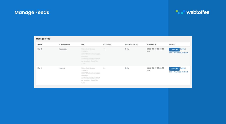 Product sync progress window.
