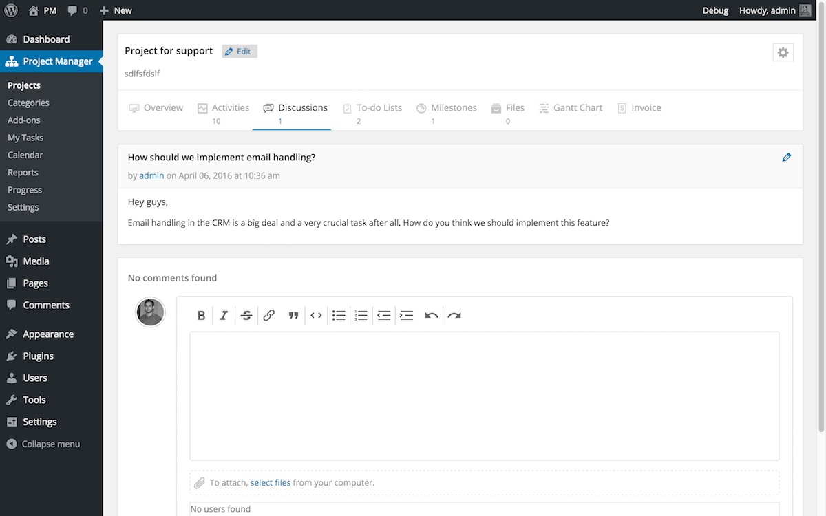 wedevs-project-manager screenshot 9