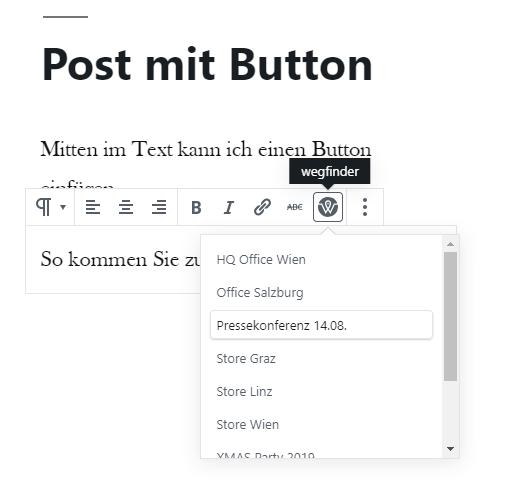 Button einfügen im Block Editor (Gutenberg)