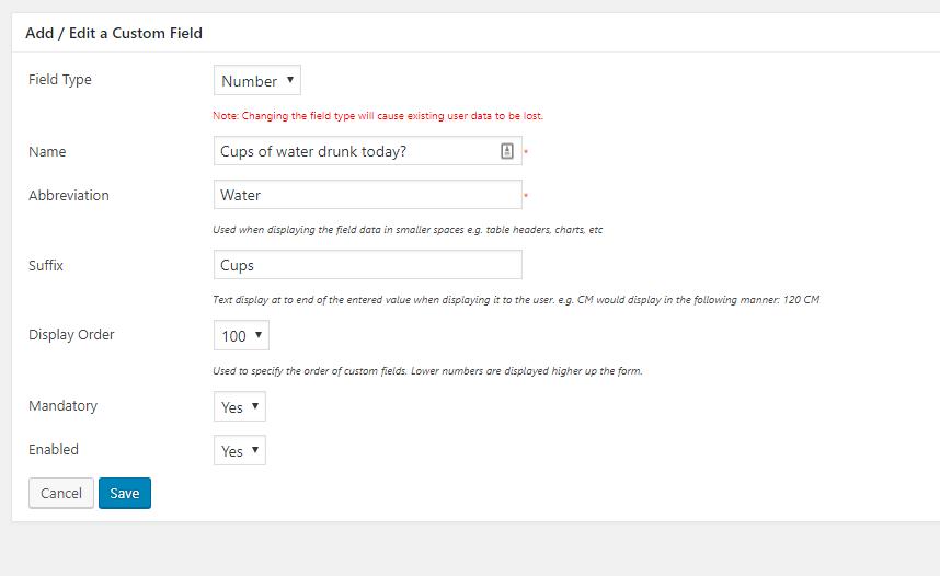 Weight Tracker – WordPress plugin | WordPress org