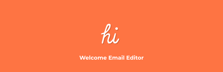 Welcome Email Editor