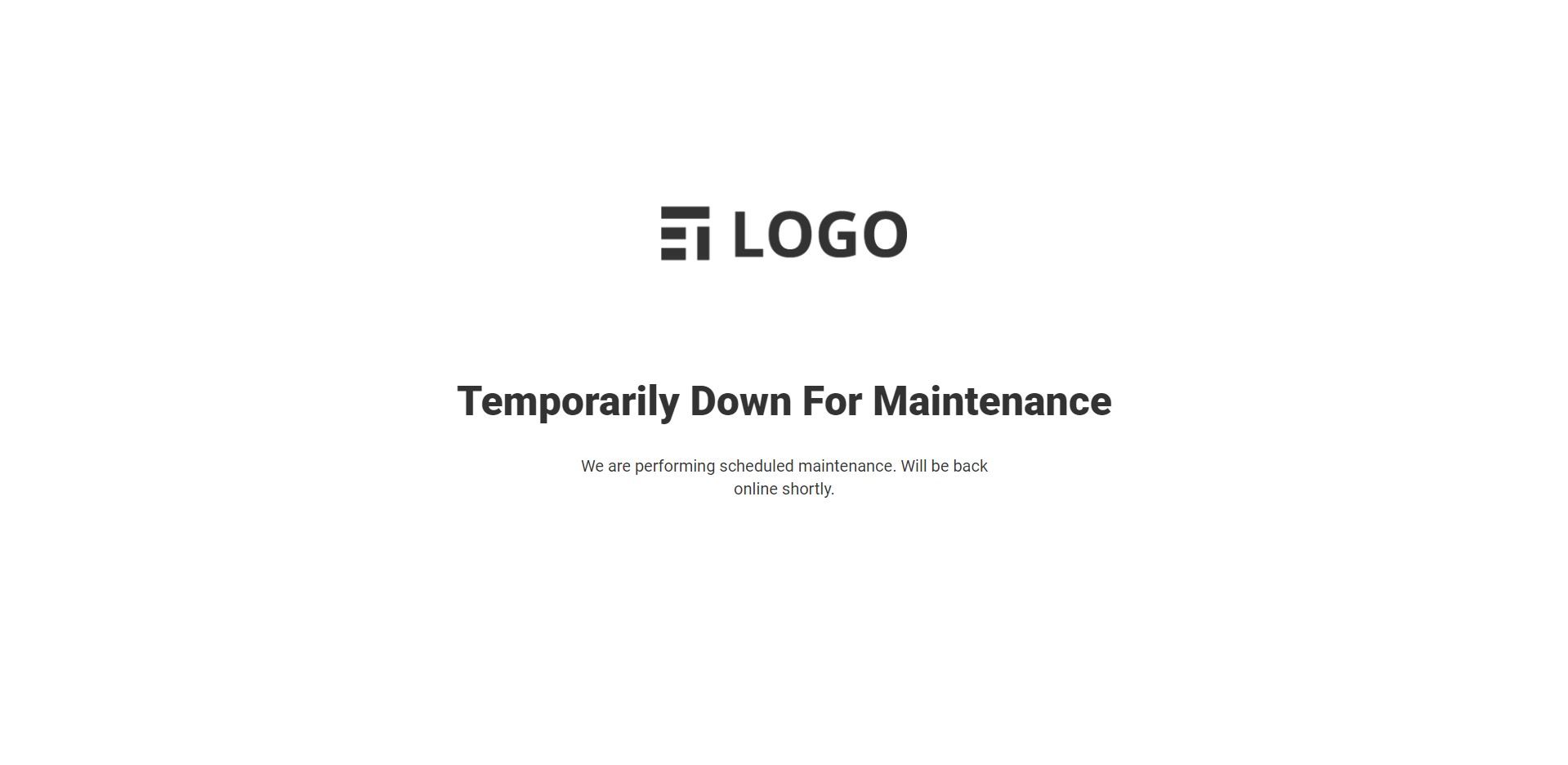 Frontend: Default layout when maintenance mode is enabled