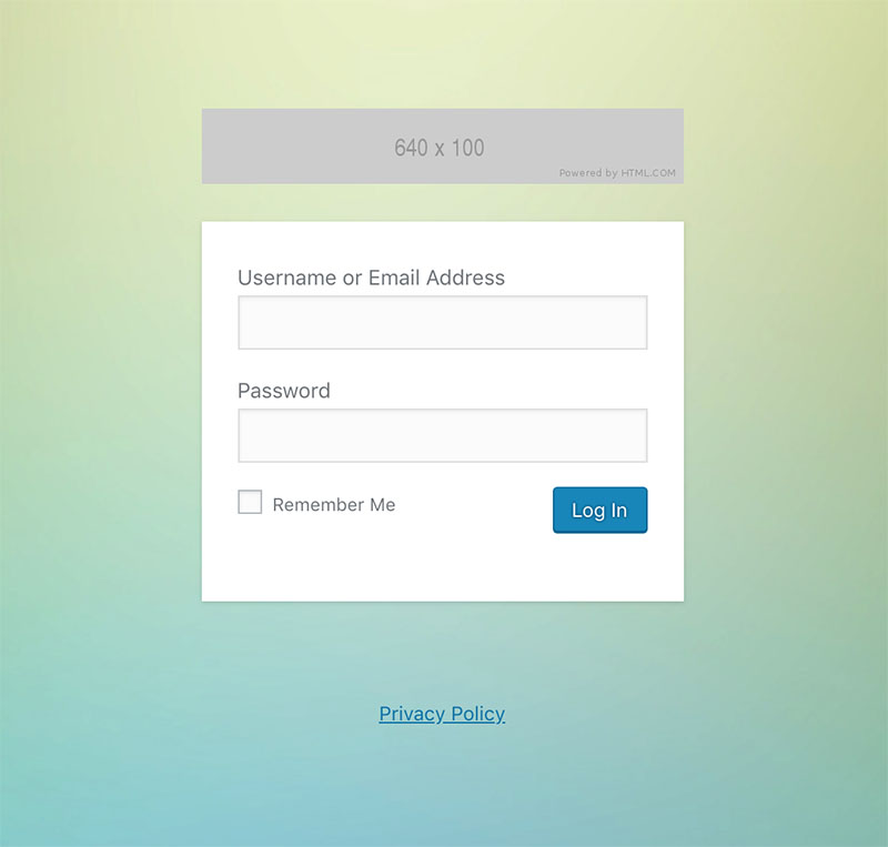 An example of a custom login