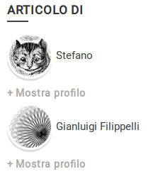 The result of the widget in a multiple authors post (italian language)