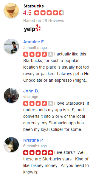Yelp Reviews Widget