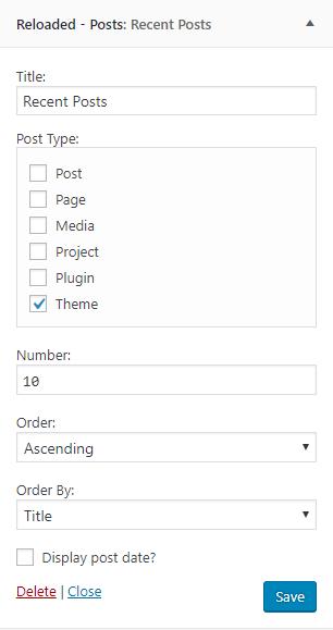 Posts widget