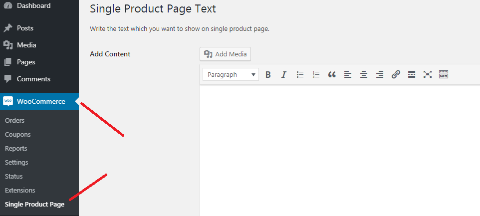 Woocommerce Add Custom Text On Single Product Page