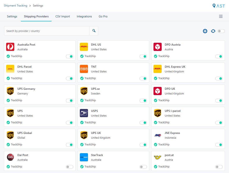 Advanced Shipment Tracking for WooCommerce – WordPress