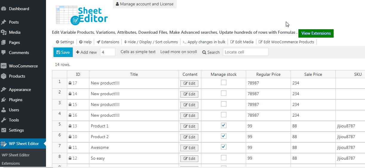 Woocommerce Bulk Edit Products Wp Sheet Editor Wordpress Plugin Wordpress Org