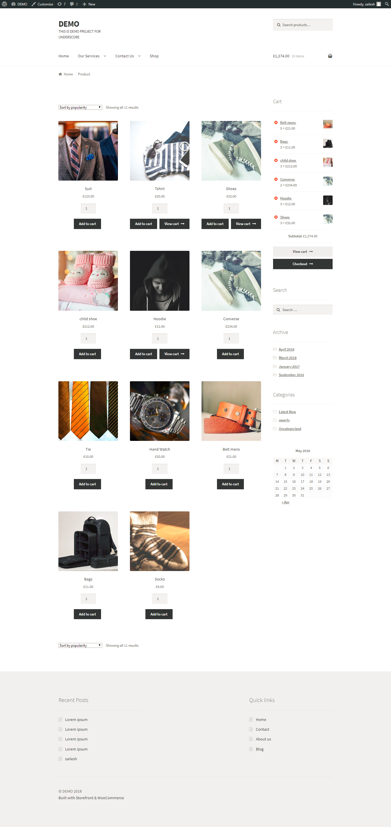 Easy to select multiple quantity form shop page.