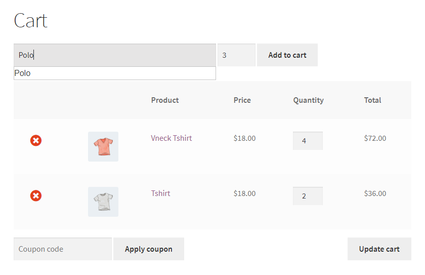 Existing product in the cart had the quantity increased by the amount added