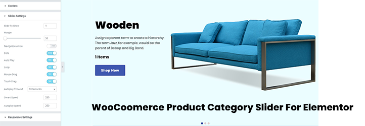 Product Category Slider for Elementor