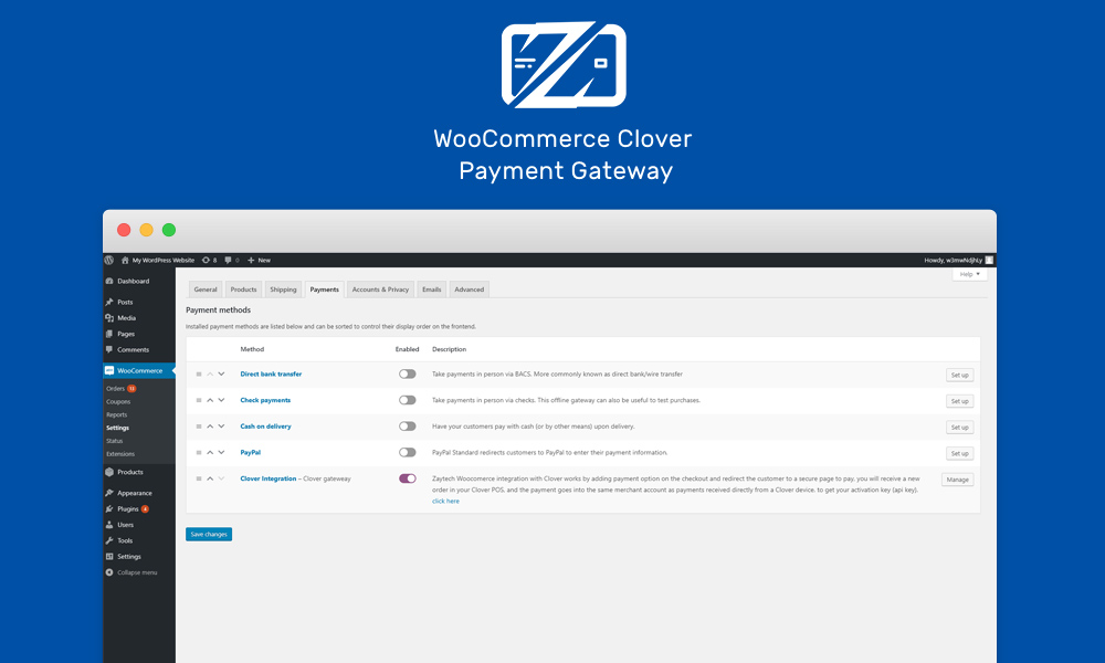 WooCommerce Clover Payment Gateway – WordPress plugin | WordPress org