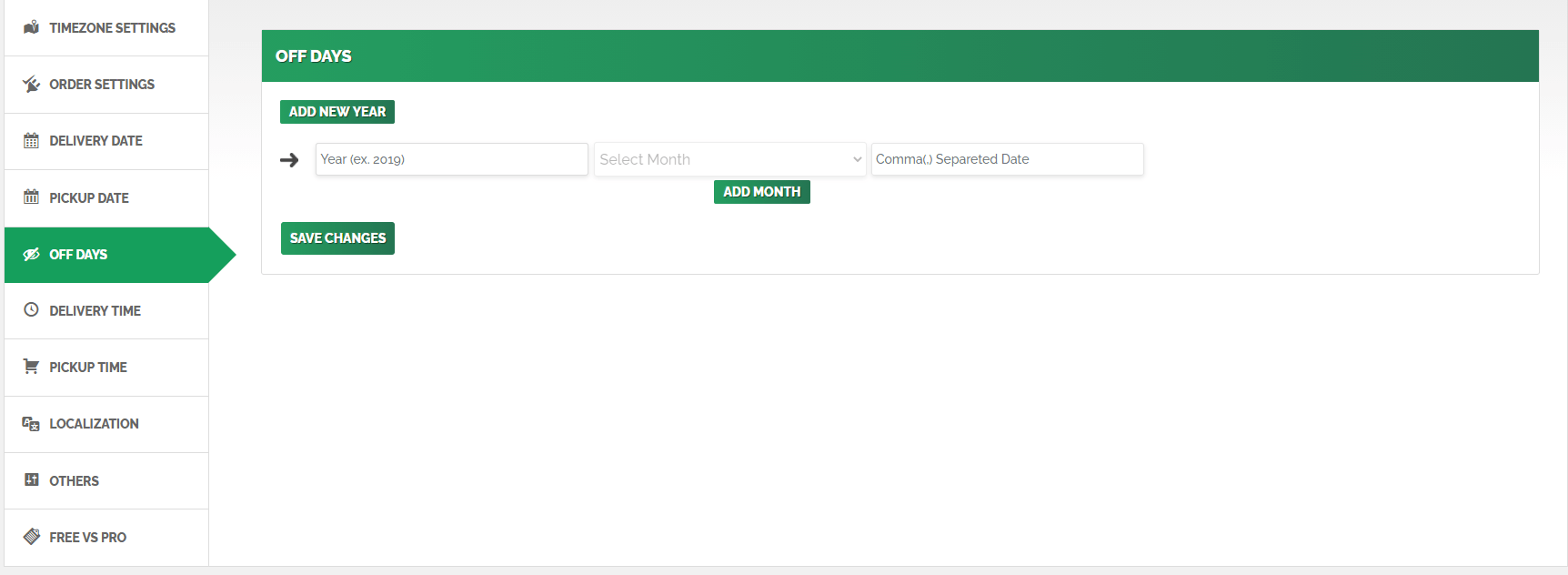 <p>Checkout Page Delivery date Field View</p>