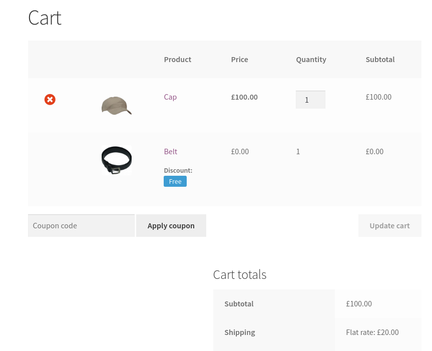 Free product auto added in cart