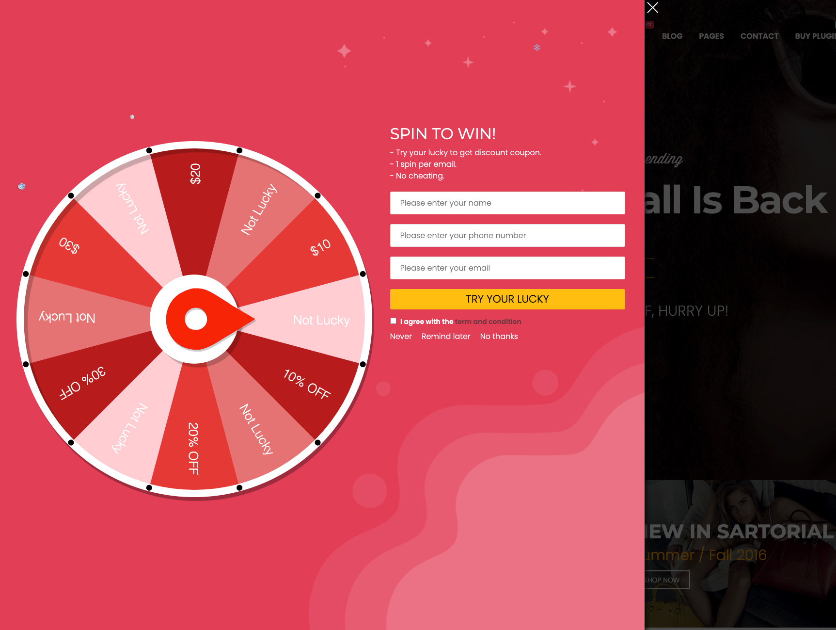 Lucky Wheel for WooCommerce – Spin a Sale – WordPress plugin