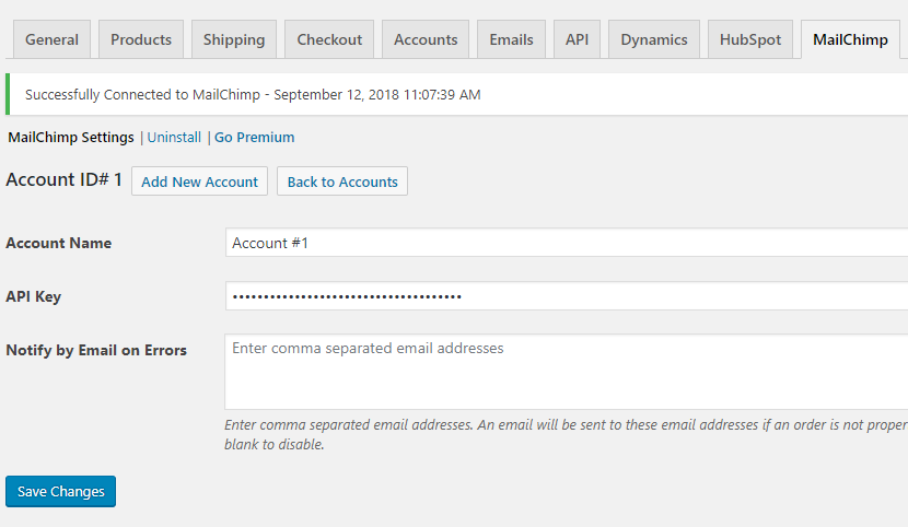 Connect WooCommerce to mailchimp.