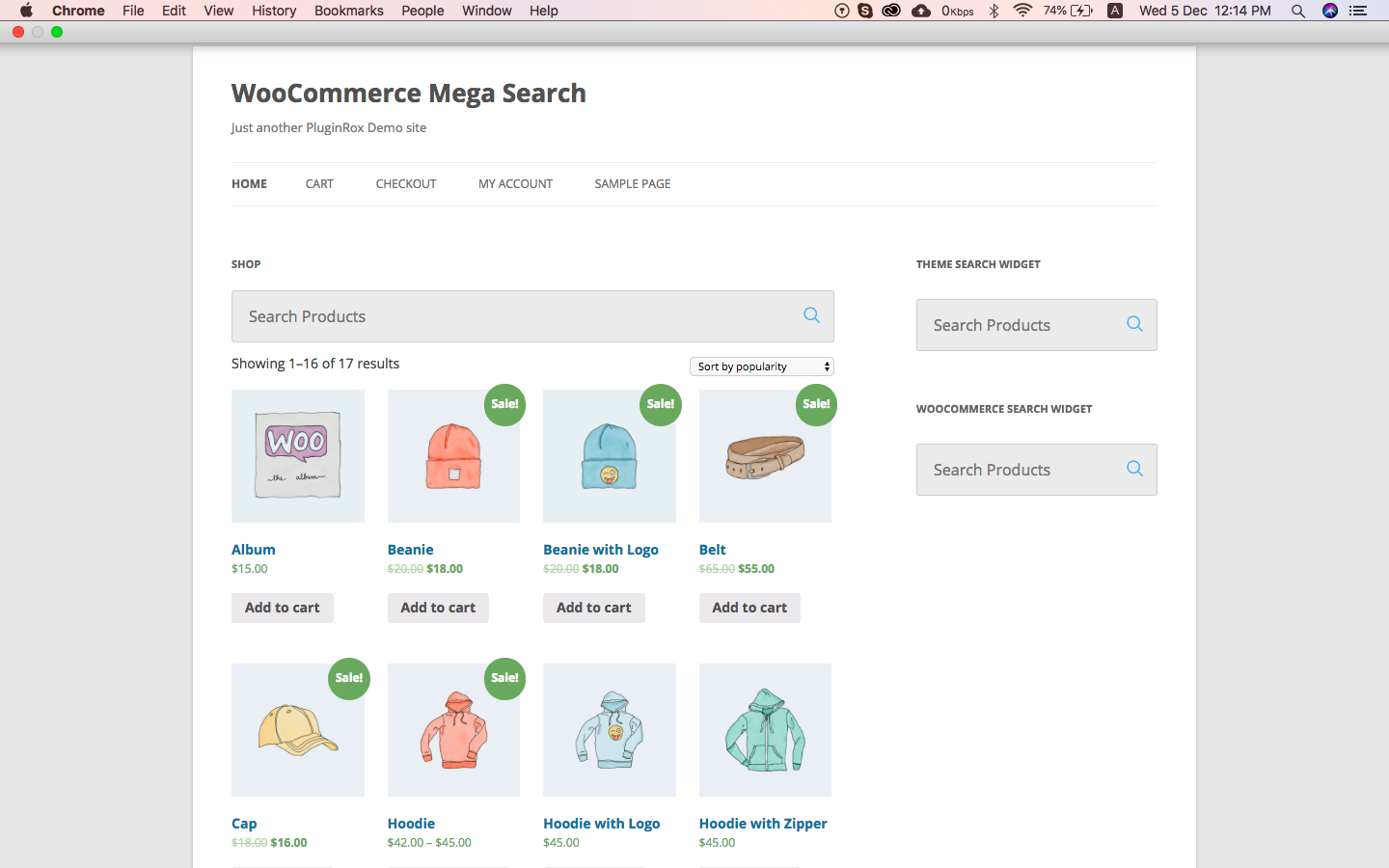 WooCommerce Mega Search