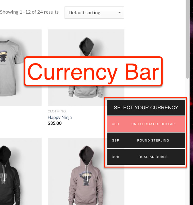 Currency bar