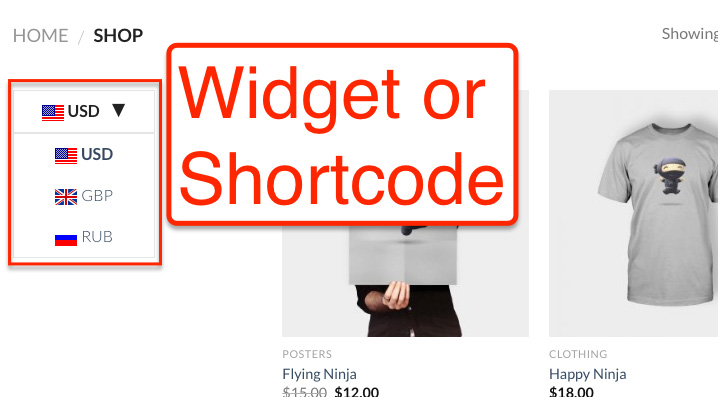 Widget or shortcode