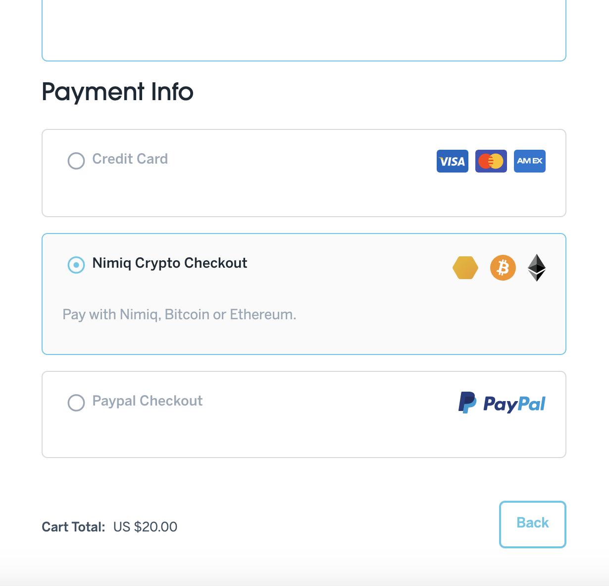 checkout bitcoin