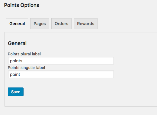 Options - you can adjust the plugin's settings here.