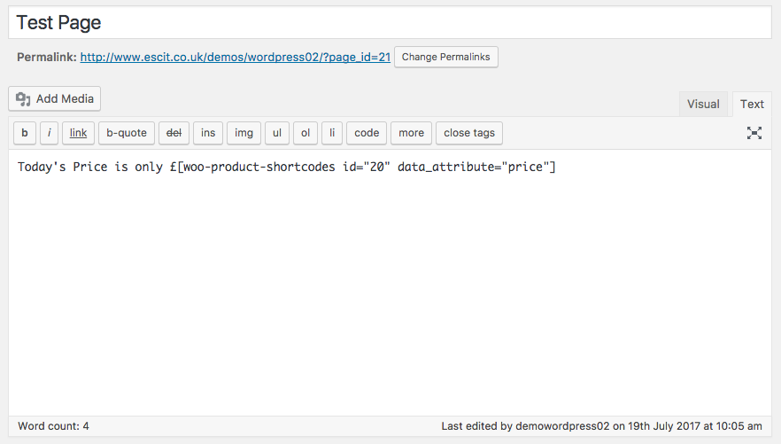 pThis screen shot shows the setup of the shortcode which could be used screenshot-1.png/p