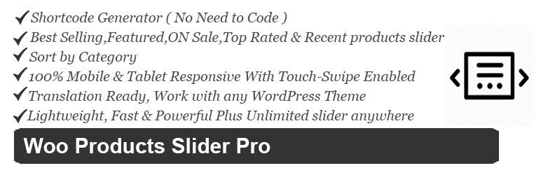 Free Woocommerce Products Slider/Carousel Pro