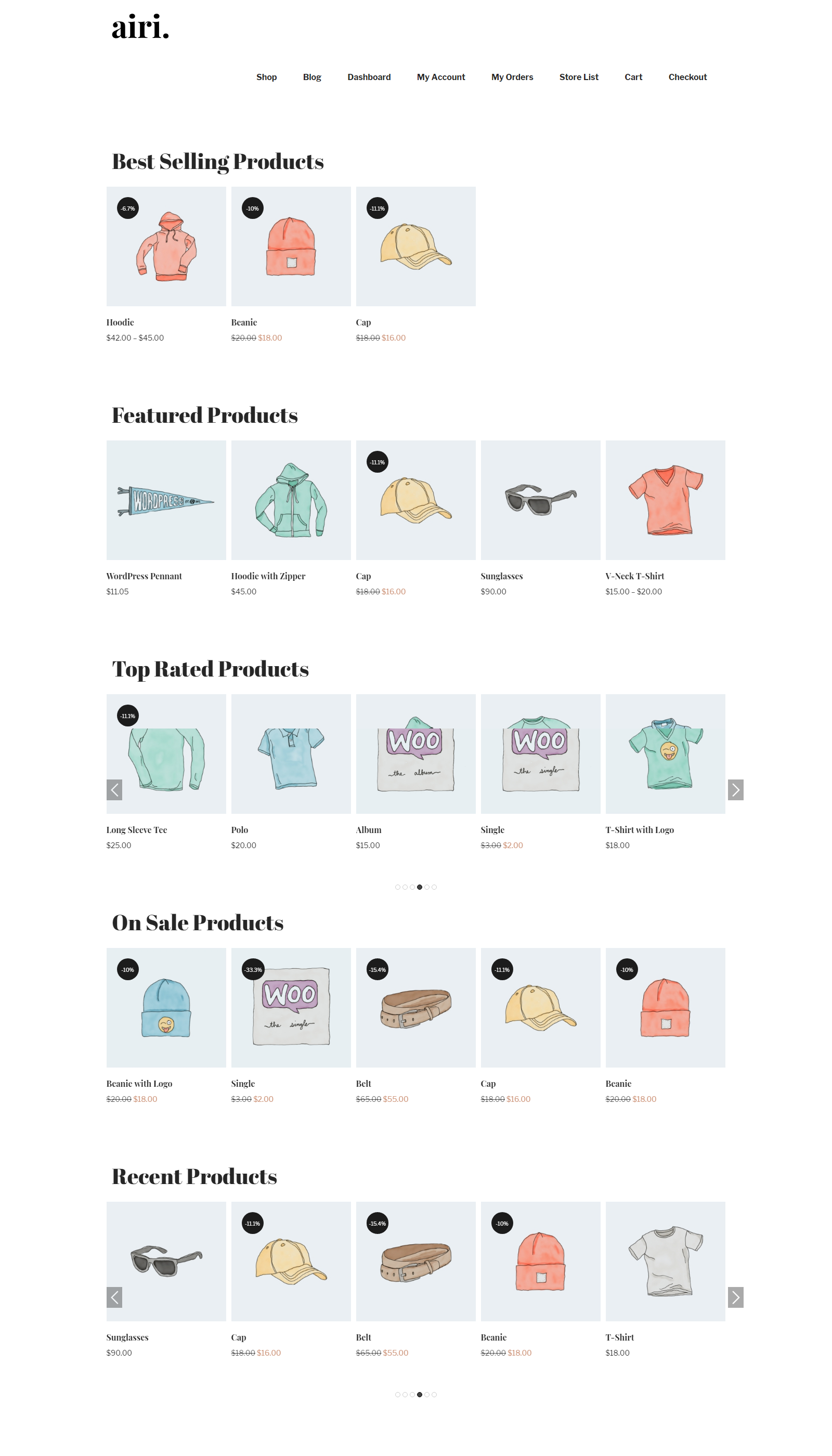 WooCommerce All Products in carousel view