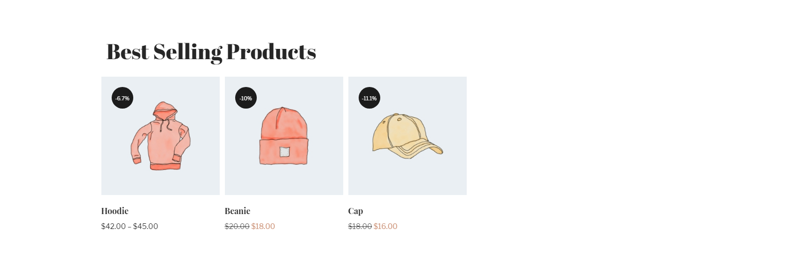 WooCommerce Best Selling Products in carousel view