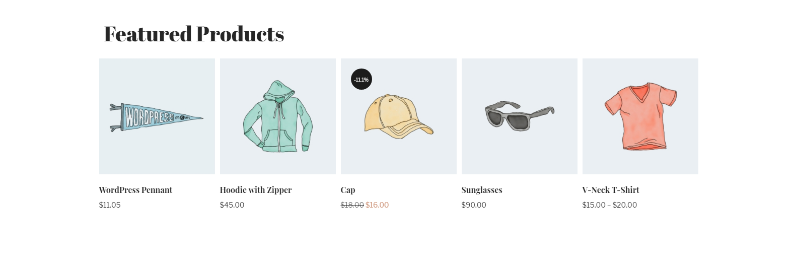 WooCommerce Featured Products in carousel view