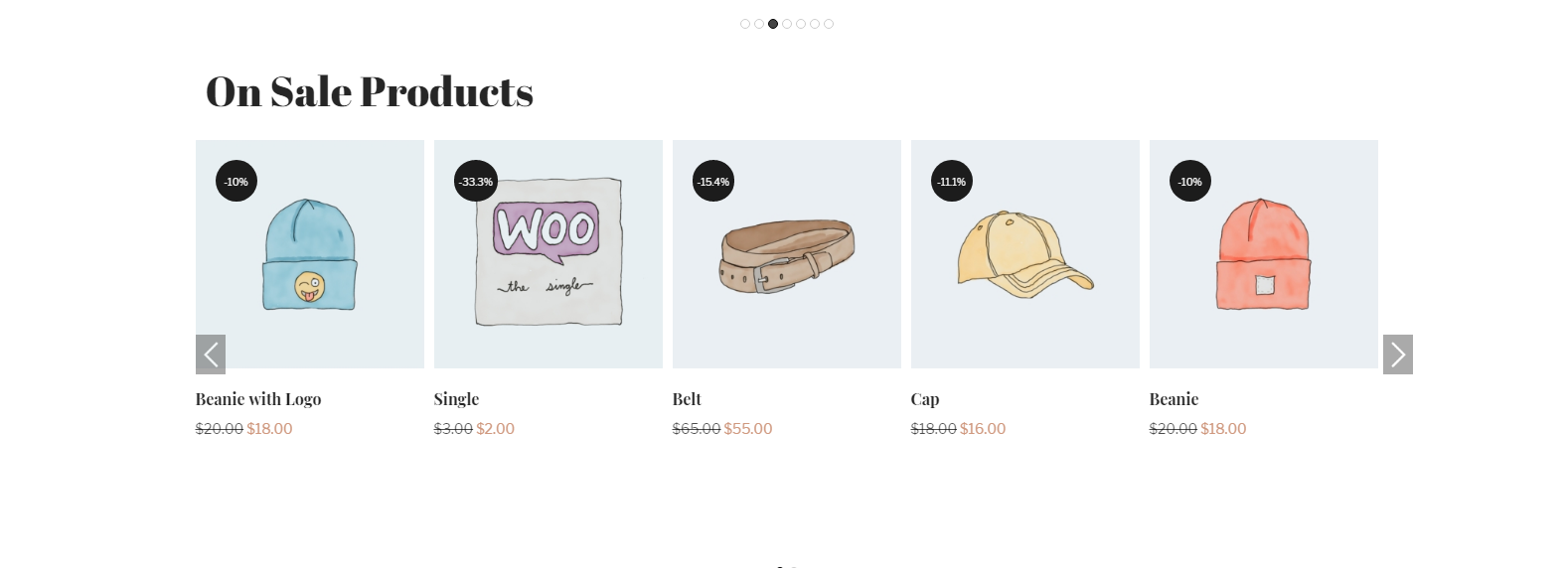 WooCommerce ON Sale Products in carousel view