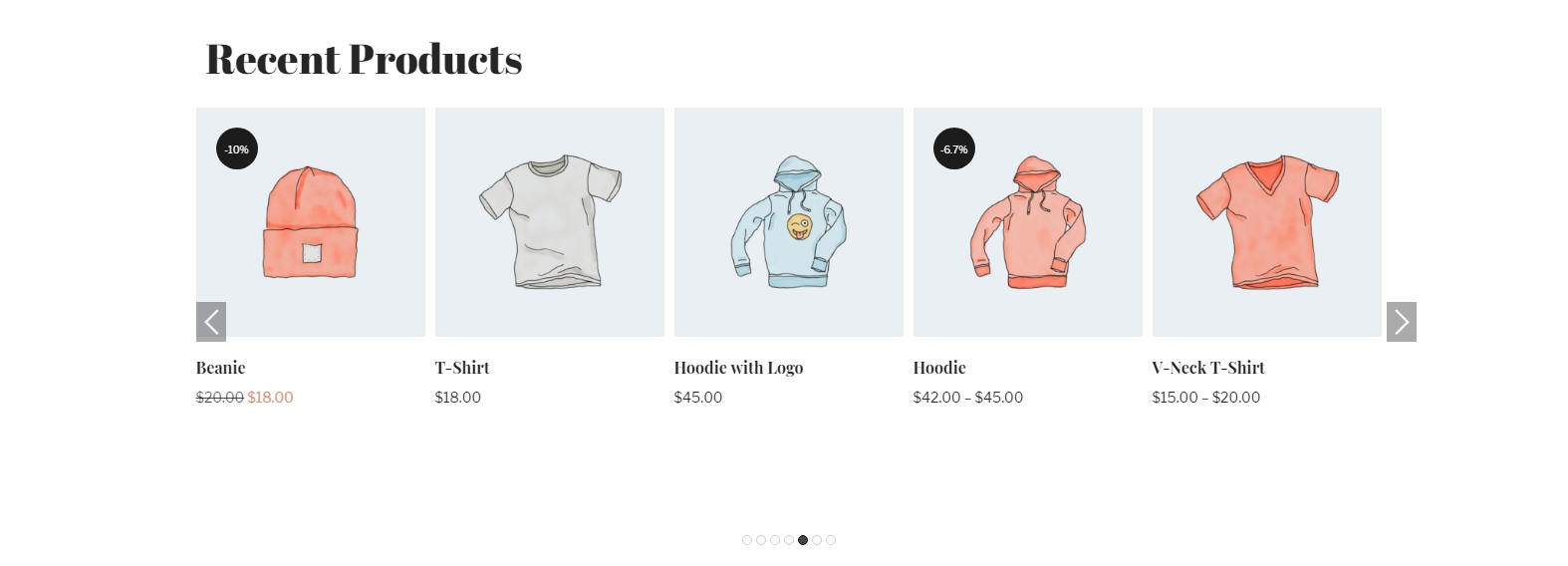 WooCommerce Most Recent Products in carousel view