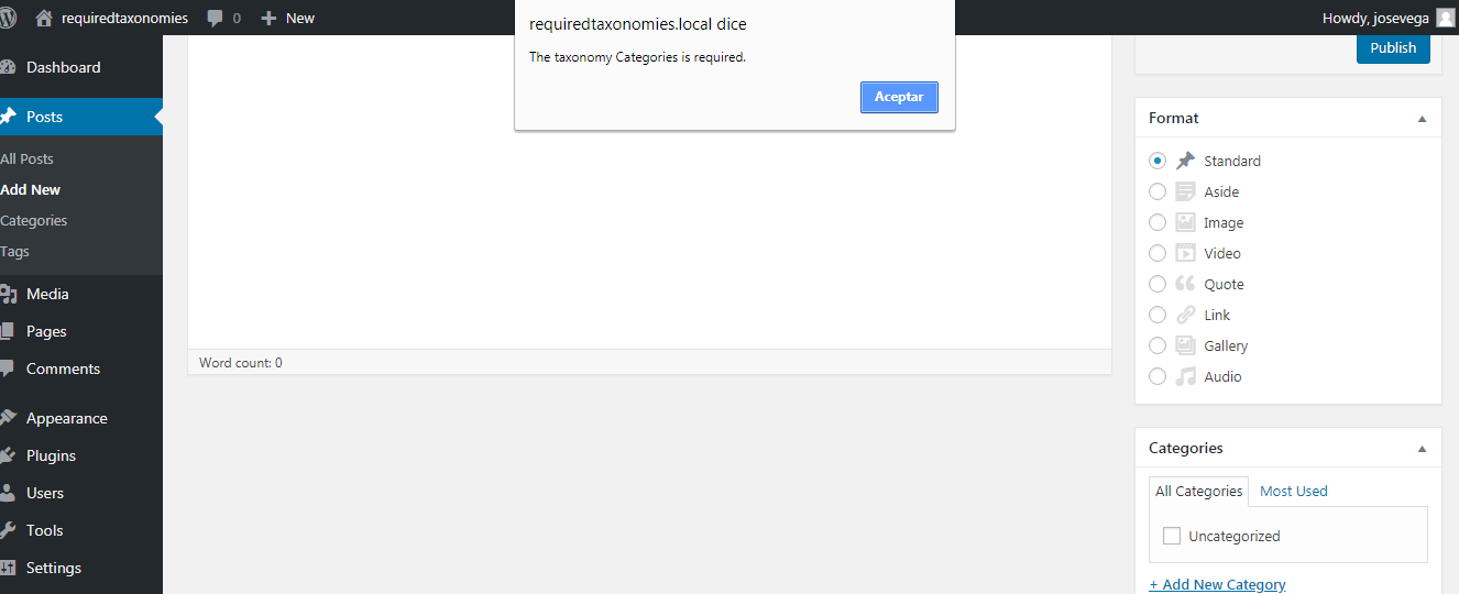 Require Categories when Creating Products – WooCommerce