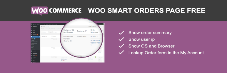 WooCommerce Smart Orders Page FREE