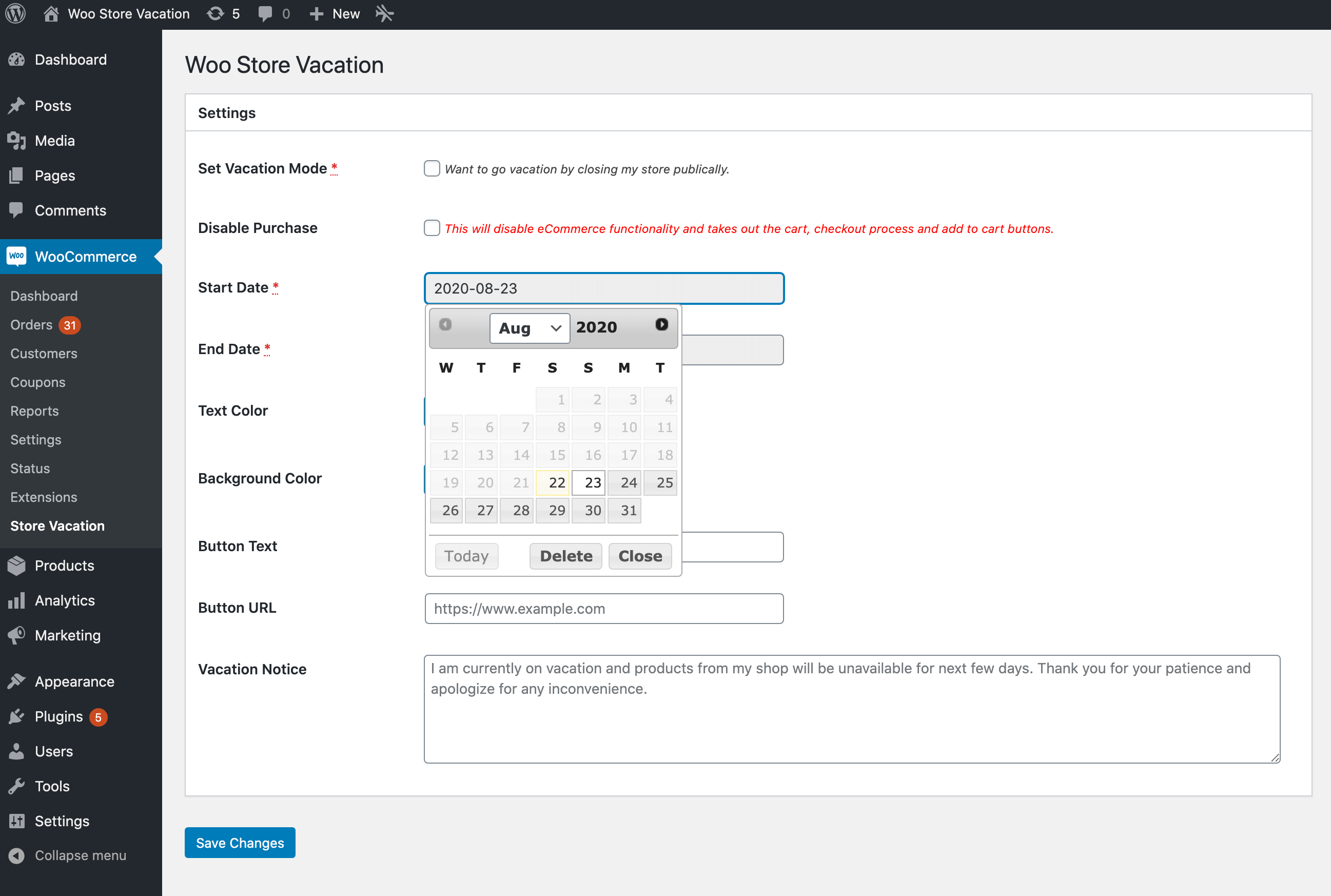 User Friendly Datepicker
