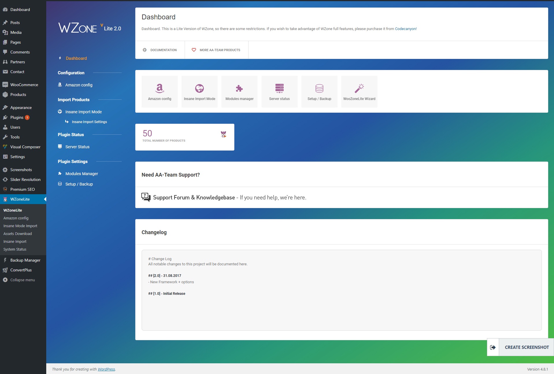 WZone – Lite Version – WordPress plugin | WordPress org
