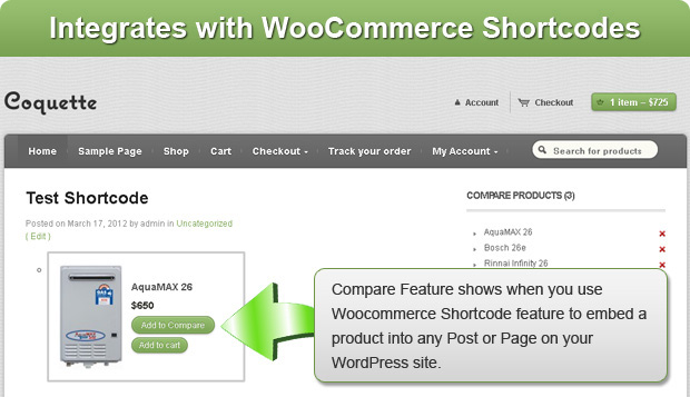 woocommerce-compare-products screenshot 4