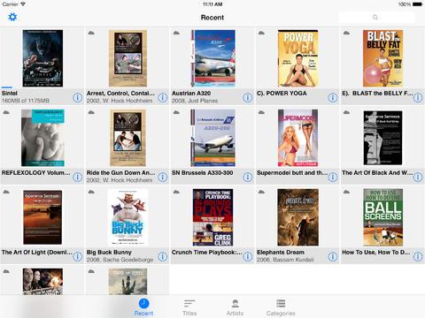 iPad content overview - tile mode (landscape)
