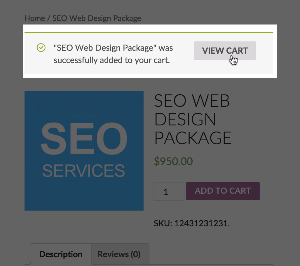 """<strong>View Cart:</strong> After a user selects """"Proceed to Checkout"""" they will be redirected to your legally binding contract."""