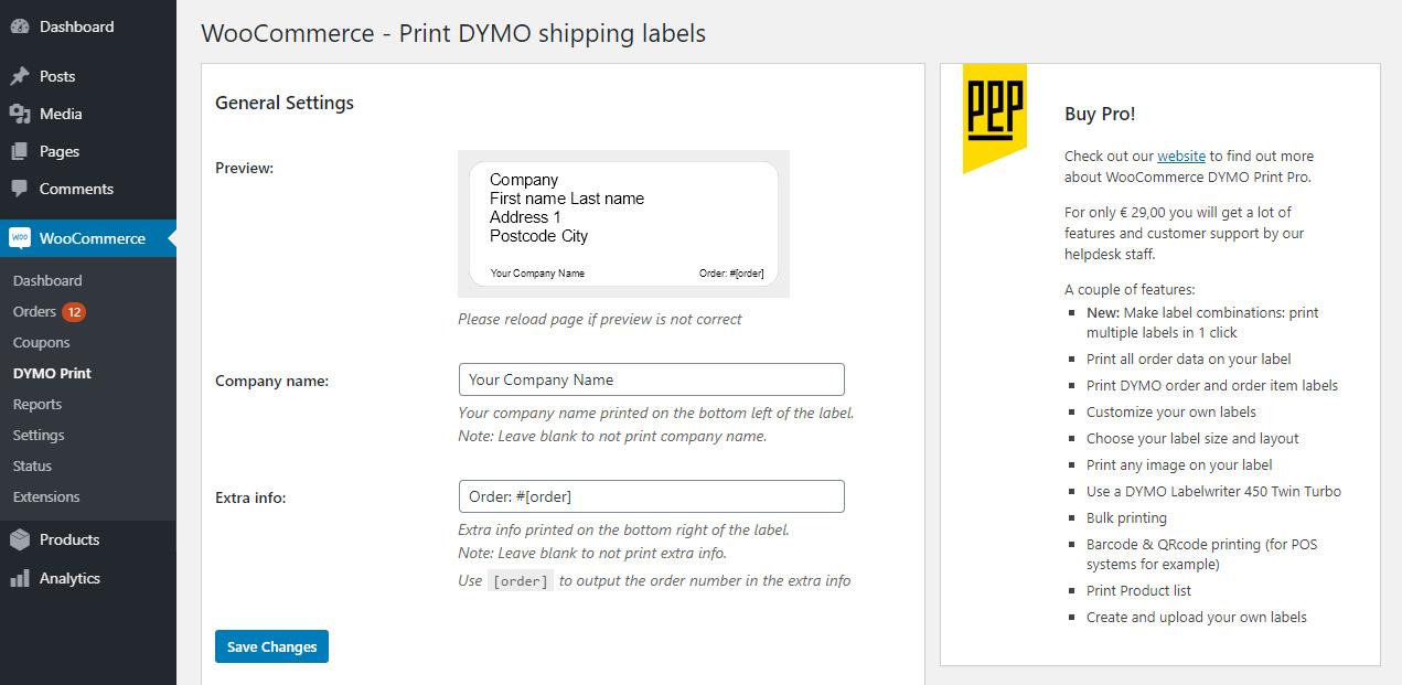 photograph relating to Dymo Printable Postage titled WooCommerce DYMO Print WordPress plugin