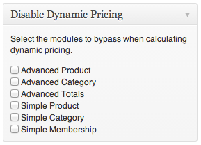 Module Exclusions on Edit Product page.