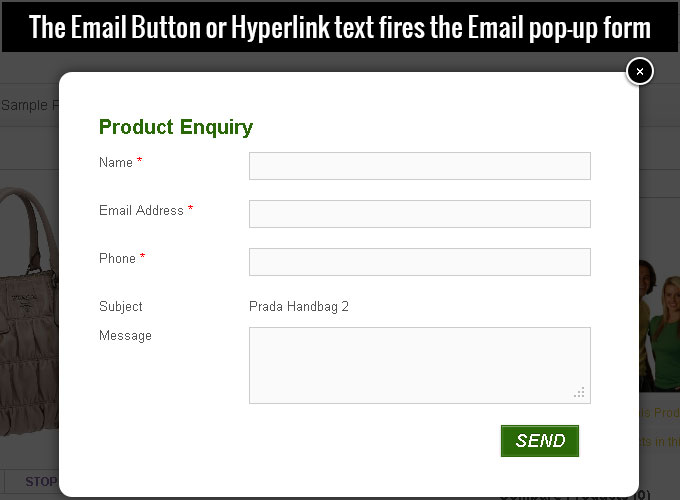 woocommerce-email-inquiry-cart-options screenshot 3