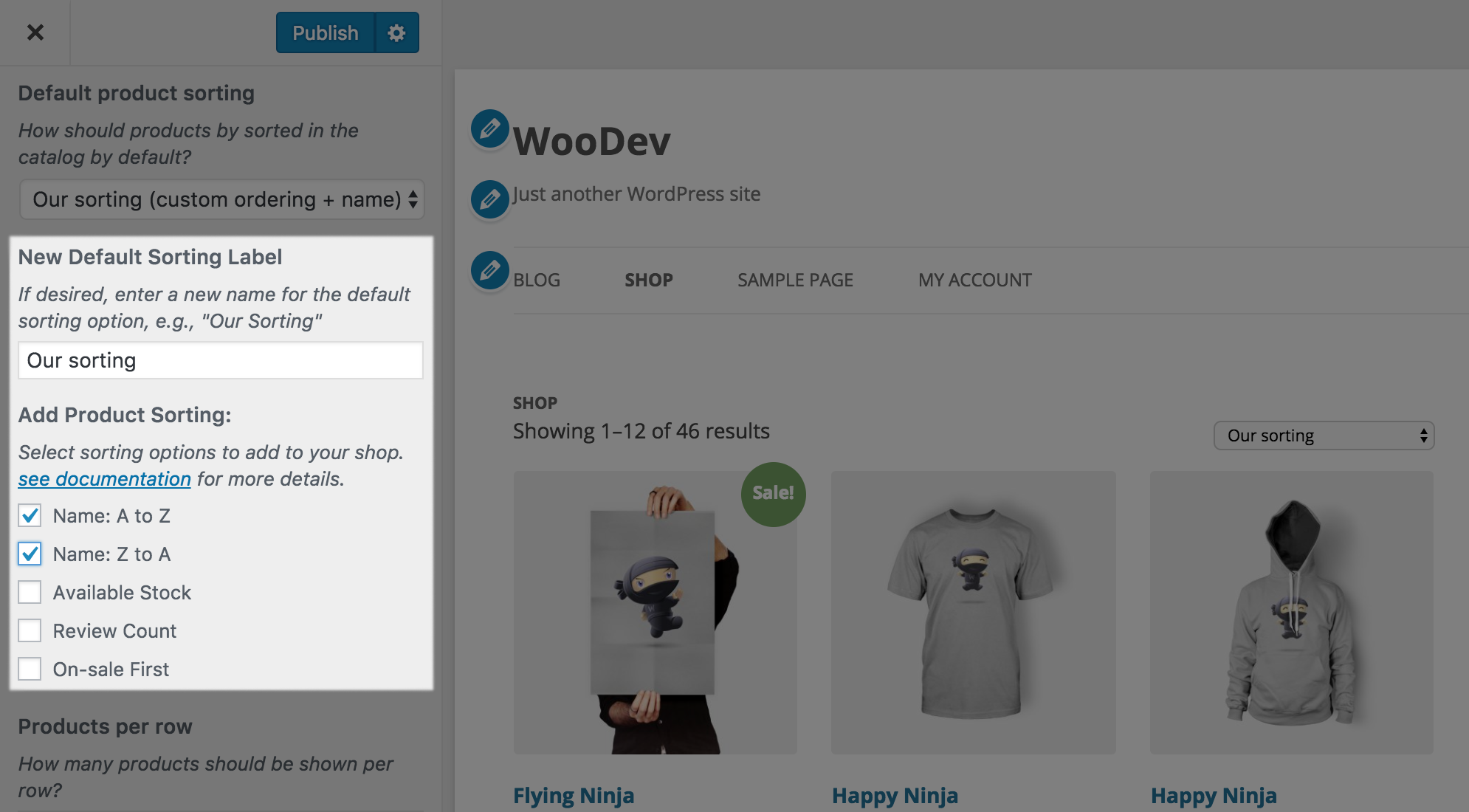 WooCommerce Extra Product Sorting Options – WordPress plugin