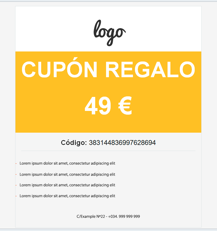 Woocommerce gift coupon wordpress you can add custom text or show the description and title of the product and choose your colours for your coupon fandeluxe Image collections