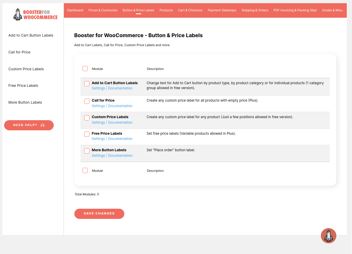 Booster for WooCommerce - Button & Price Labels.