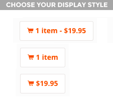 3 different display style options to choose from.
