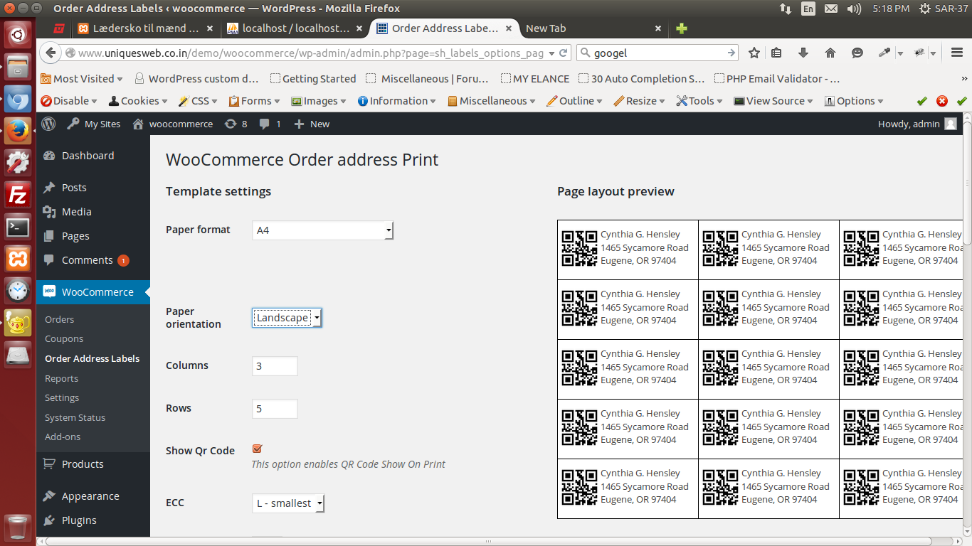 woocommerce order address print u2014 wordpress plugins